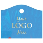Custom Hot Stamped Plastic Bags - Super Wave Lagoon Blue