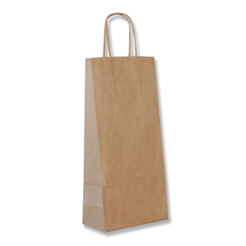 Rope Handle Events Bag Natural Kraft Large Boutique Shop Ribbon Gift Bags