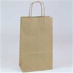 2 Wine Bottle Kraft Shopping Bags
