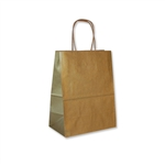 "Metallic Gold Paper Shopping Bags 8"" x 5"" x 10"""