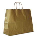 "Gold Metallic Paper Shopping Bags 16"" x 6"" x 12"""
