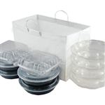Side by Side Catering Tray Take Out Bags