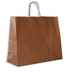 "Metallic Copper Paper Shopping Bags, 16"" x 6"" x 12"""