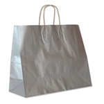 "Metallic Silver Paper Shopping Bags 16"" x 6"" x 12"""