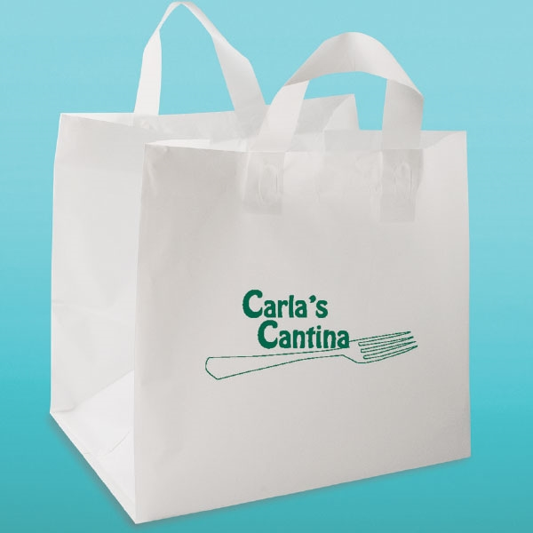 Plastic Restaurant To Go Bags With Handles