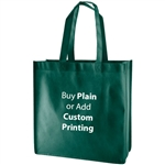 "Dark Green Non-Woven 13"" x 5"" x 13"" Tote Bags - 18"" Handle"