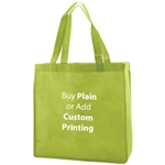 "Lime Non-Woven 13"" x 5"" x 13"" Tote Bags - 18"" Handle"