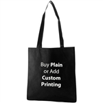 "Black Non-Woven 15"" x 16"" Tote Bags - 28"" Handle"