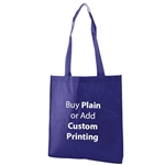 "Royal Non-Woven 15"" x 16"" Tote Bags - 28"" Handle"