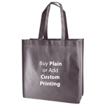 "Charcoal Non-Woven 13"" x 5"" x 13"" Tote Bags - 18"" Handle"