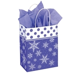 Recycled Snowflake Paper Shopping Bags