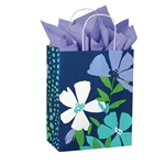 Recycled Periwinkle Paper Shopping Bags
