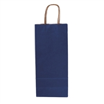 Single Bottle Navy Blue Wine Bags