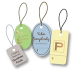Custom Hot Stamped STRING Tags-Small Shapes
