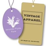 Custom Hot Stamped Tags with strings-Large Shapes