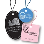 Custom Hot Stamped Tags with Strings-Medium Shapes