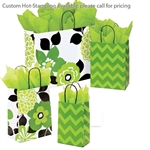 Bold Floral/Chevron Patterned Shopping Bags