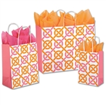 Chic Link Patterned Shopping Bags