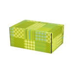 Small Preppy Plaid Patterned Shipping Boxes - 12 Pack