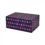 Small Snowflake Icons Patterned Shipping Boxes - 6 Pack