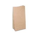 6 lb. SOS Paper Bags - Smooth Kraft