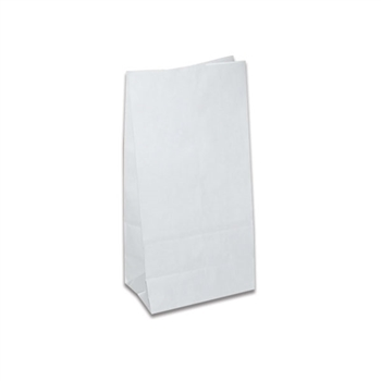 6 lb. SOS Paper Bags - Smooth White
