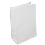 Vintage Style Grocery Paper Bags White