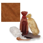 Gusseted Wine Organza Bags in Copper