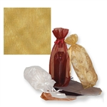 Gusseted Wine Organza Bags in Gold