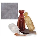 Gusseted Wine Organza Bags in Silver