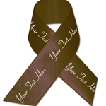 Brown Personalized Bridal Satin Ribbon