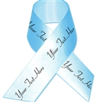 Blue Topaz Personalized Bridal Satin Ribbon