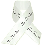 Ivory Personalized Bridal Satin Ribbon