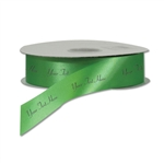 Emerald Green Personalized Dyna Satin Ribbon