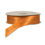Orange Personalized Dyna Satin Ribbon