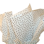 Speckled White Dots Tissue Paper