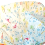 Songbirds printed tissue paper