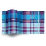 Arctic Plaid Printed Satinwrap tissue
