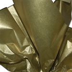 "Embossed Gold Swirls Metallic Tissue Paper - 100 Sheets (20 x 30"")"