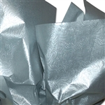 "Embossed Silver Swirls Metallic Tissue Paper - 100 Sheets (20 x 30"")"