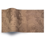 Olde World Map Printed Satinwrap tissue