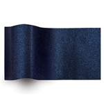 Midnight Blue Pearlesence Printed Satinwrap tissue
