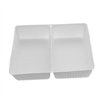 2 Cavity Tin Insert for 12RECS Rectangle Tins - 72 Inserts/Pack