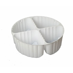 4 Cavity Tin Insert for 3C Round Tins - 72 Inserts/Pack