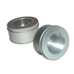 Small Round Techno Tins with Clear Tops