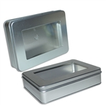 Smallish Rectangle Tins with Windows