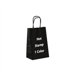 1 Color Hot Stamped Small Shadow Stripe Paper Shopping Bag
