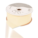 Ivory Vel-Pruf flocked polypropylene ribbon