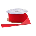 Medium Red Vel-Pruf flocked polypropylene ribbon