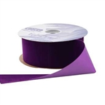 Purple Vel-Pruf flocked polypropylene ribbon